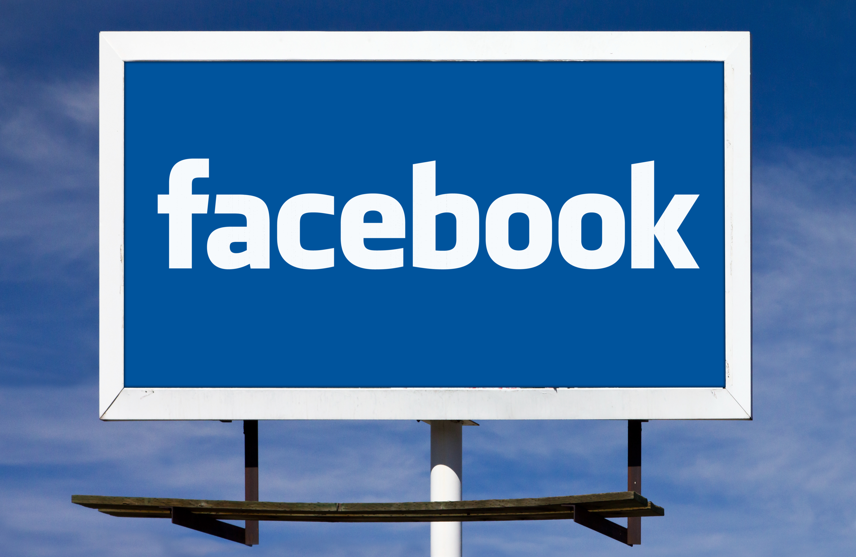 Facebook Logo Billboard Sign